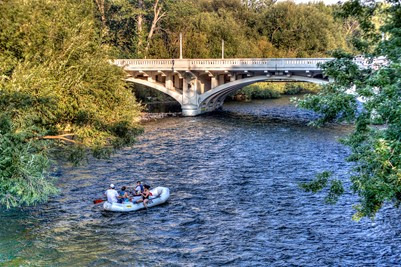 Boise River Rafting in Summer
