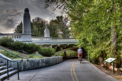 Biker on Boise River Greenbelt