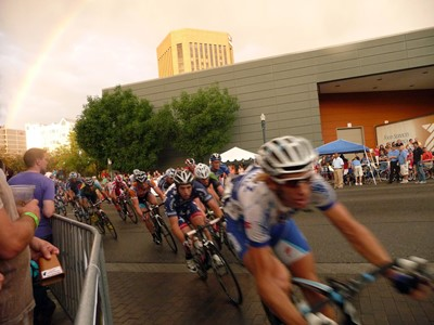 Boise Twilight Criterium Bikers Rainbow For BCVB