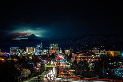 Night Skyline Downtown Boise